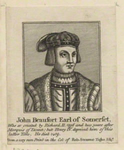 NPG D23929; John Beaufort, Duke of Somerset after Unknown artist